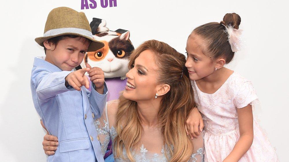 Jennifer Lopez e i suoi figli Max ed Emme
