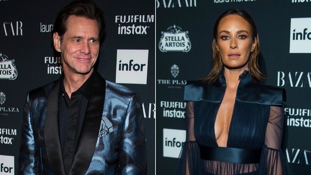 Jim Carrey and Catt Sadler at the Harper's Bazaar ICONS party during NYFW in 2017
