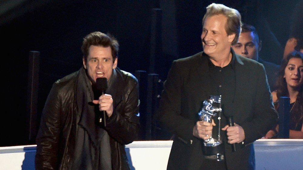 Jim Carrey and Jeff Daniels at the 2014 MTV VMAs
