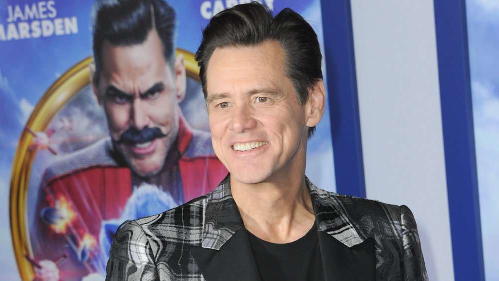 Jim Carrey at the premiere of Sonic The Hedgehog