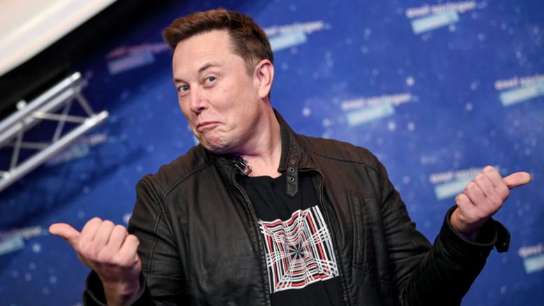 Elon Musk che fa i pollici di Fonzie