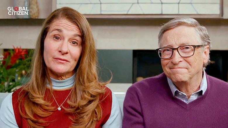 Bill e Melinda Gates parlano durante un evento virtuale nel 2020
