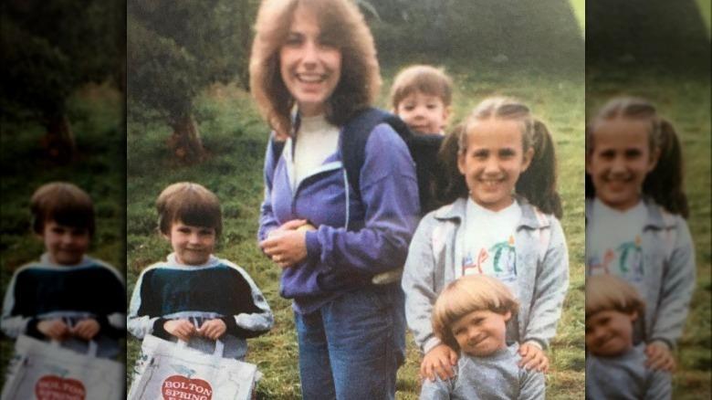 Il giovane Chris Evans con la famiglia