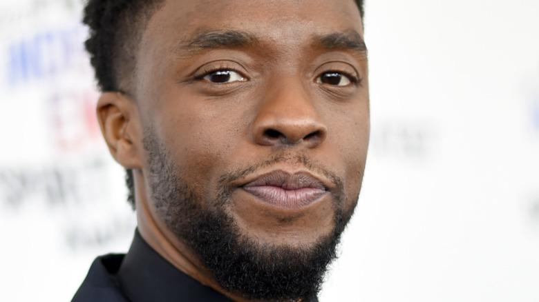 Chadwick Boseman sul tappeto rosso