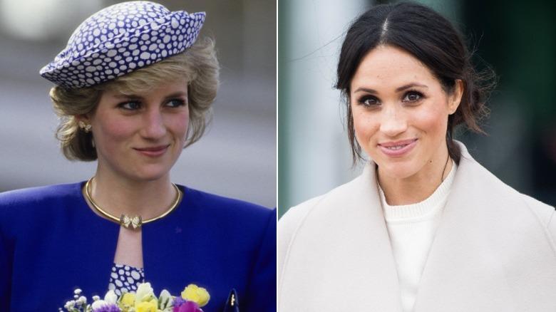La principessa Diana e Meghan Markle