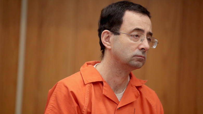 Il dottor Larry Nassar in tribunale