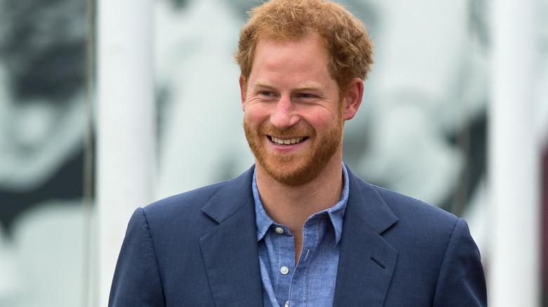 Giacca blu principe Harry Prince
