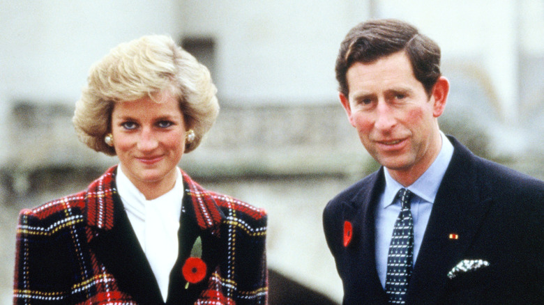 La principessa Diana e il principe Carlo fuori insieme