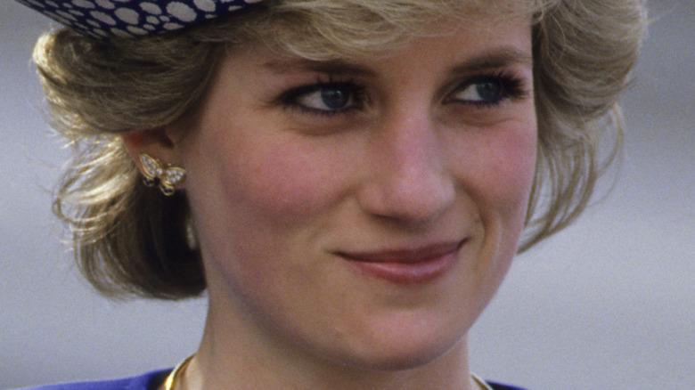 La principessa Diana sorride