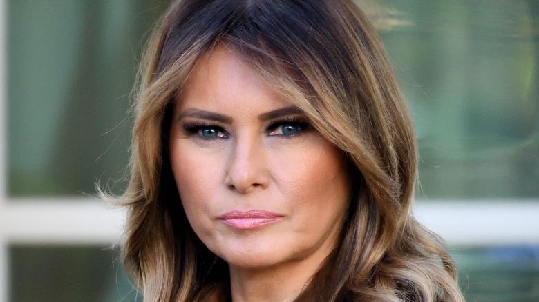 Melania Trump al Roseto della Casa Bianca