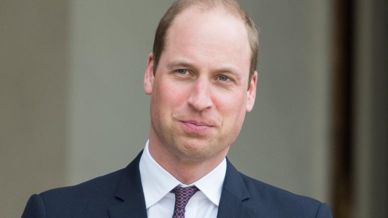 Il principe William in posa