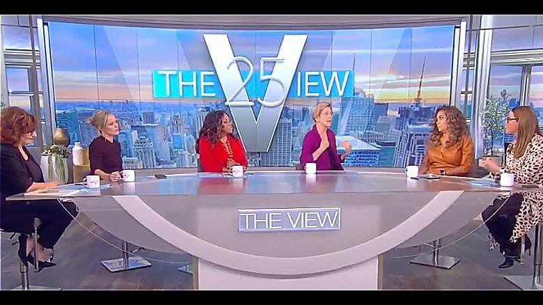 Elizabeth Warren e The View co-conduttori