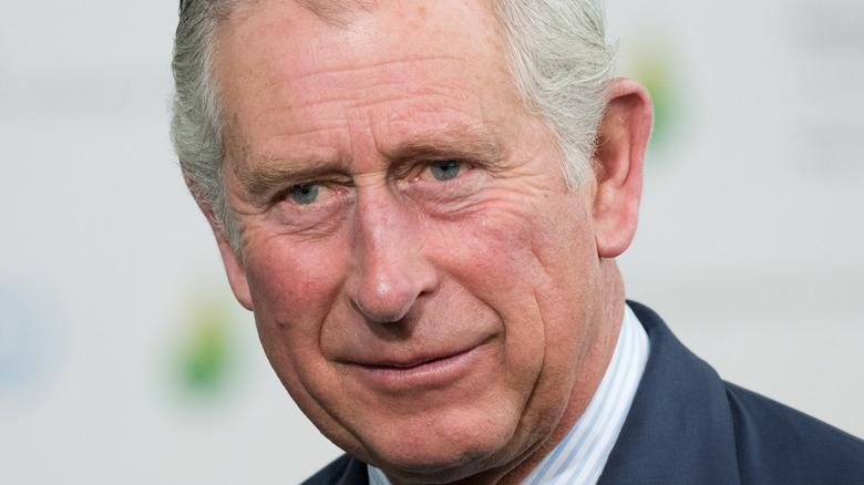 Il principe Carlo sorride a un fidanzamento