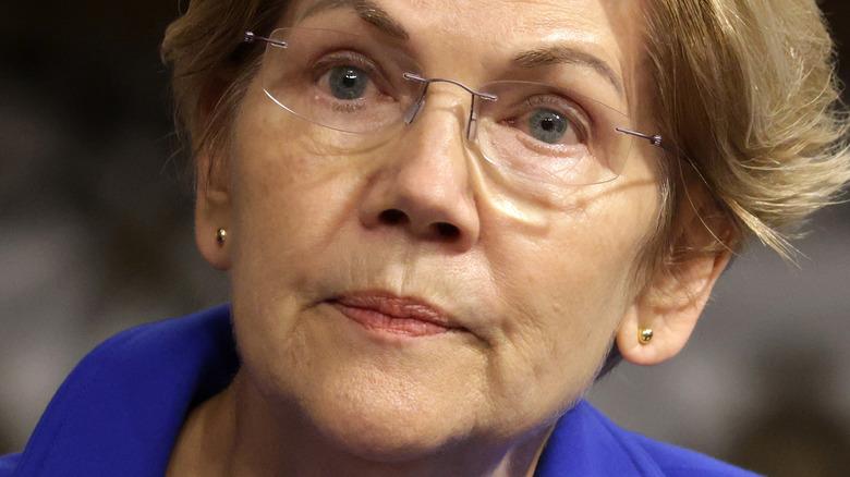 Elizabeth Warren accigliata