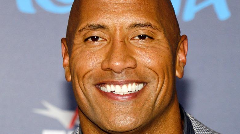 Dwayne The Rock Johnson, prima del film con il sorriso